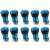 10x Translucent Blue LED Arcade Push buttons