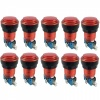 10x Translucent Red LED Arcade Push buttons