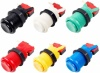 6x Arcade Buttons with Concave Plunger - Mixed Colours