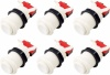 6x Arcade Buttons with Concave Plunger - White