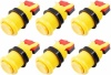6x Arcade Buttons with Concave Plunger - Yellow
