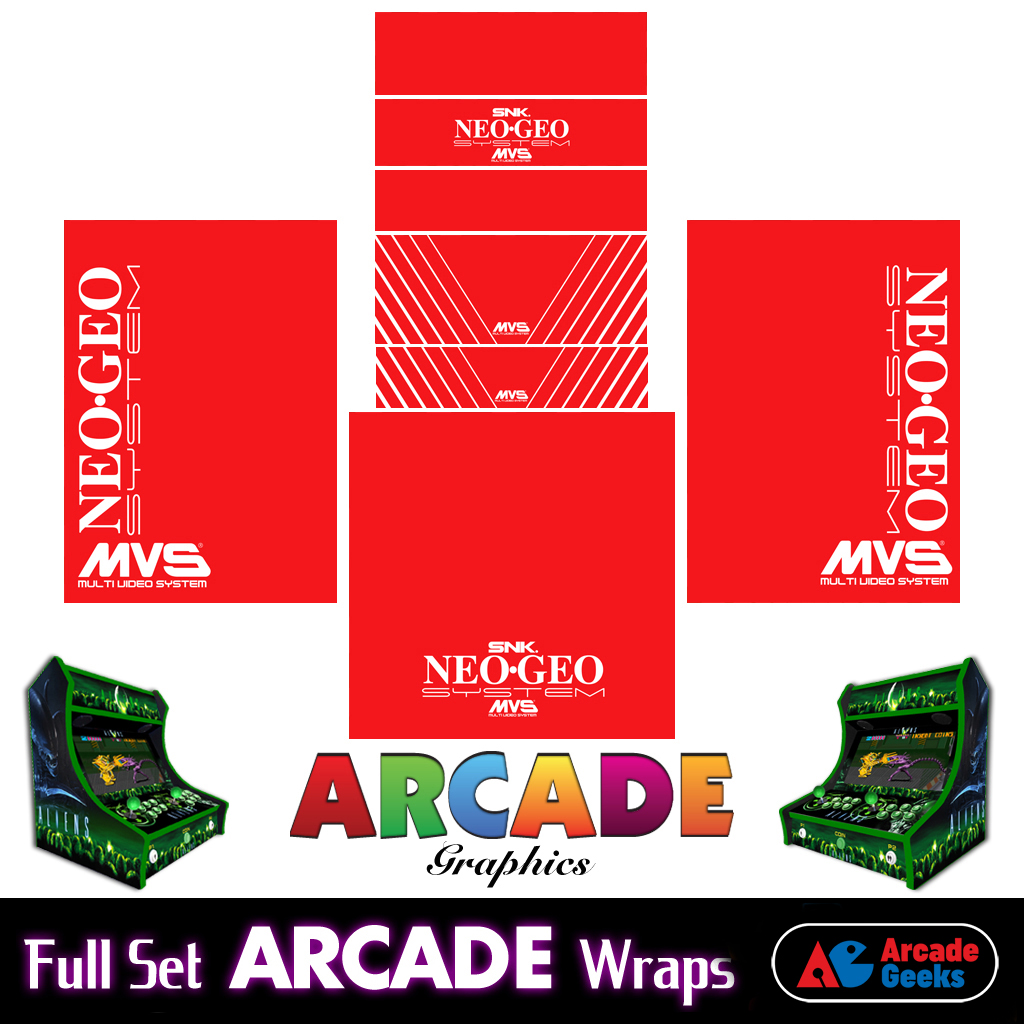 Bartop Arcade Machine Artwork Graphics Full Set – Sticker Graphics – Neo Geo